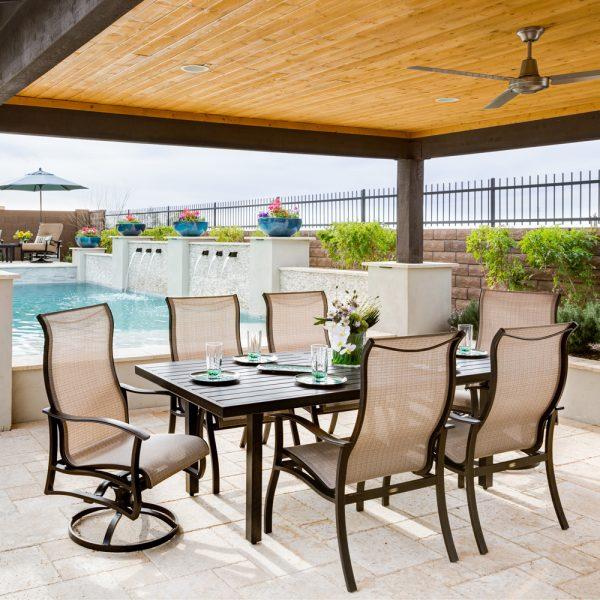 Mallin outdoor aluminum dining tables