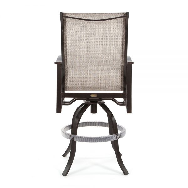 Albany patio swivel barstool back view