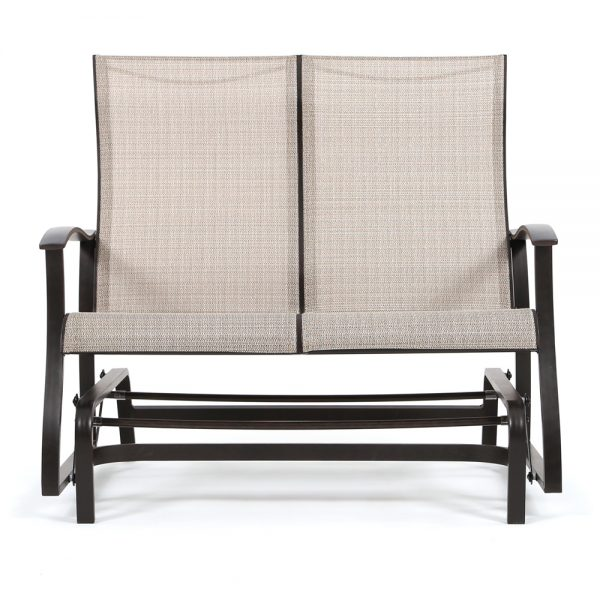 Mallin Albany sling aluminum double glider front view