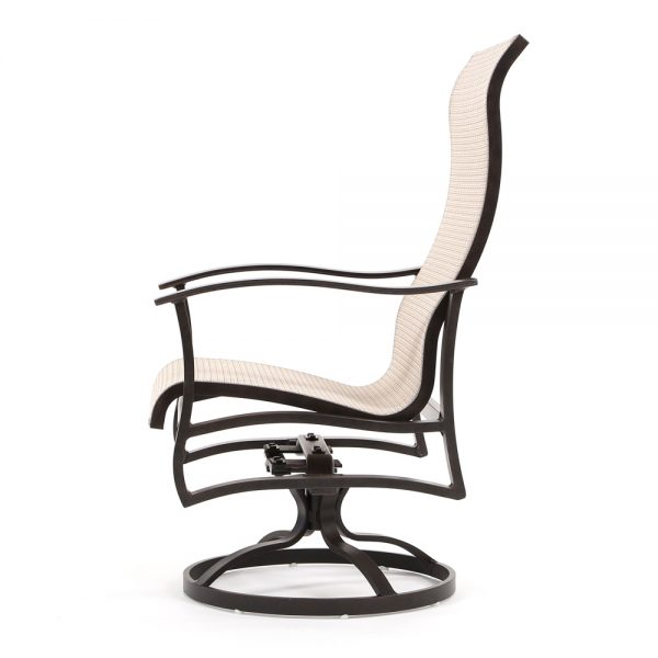 Albany patio swivel dining chair side view