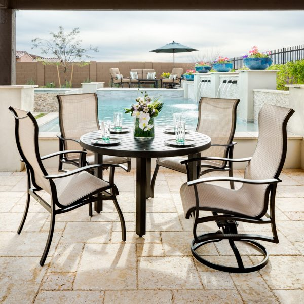 Mallin Albany sling outdoor dining furniture