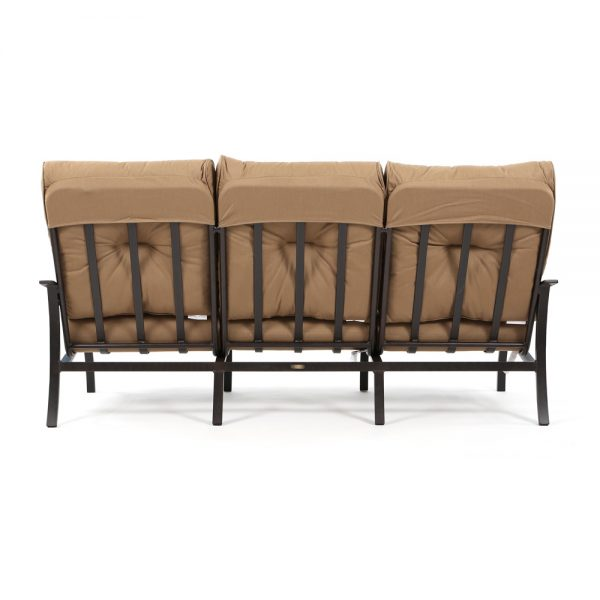 Albany outdoor aluminum sofa back view