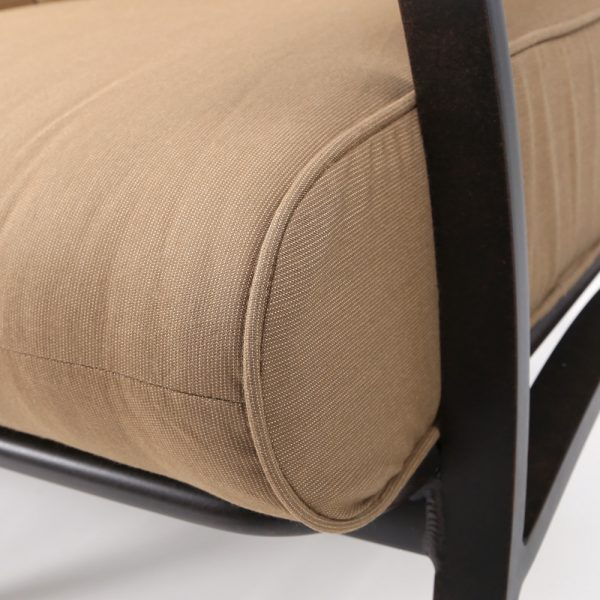 Mallin Sunbrella Spectrum Caribou cushion detail