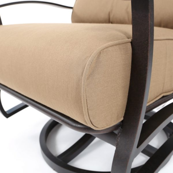 Mallin Sunbrella Spectrum Caribou cushions detail