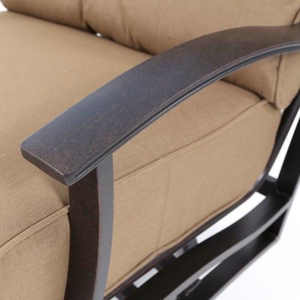 Mallin Albany aluminum frame with a Autumn Rust powder coat finish