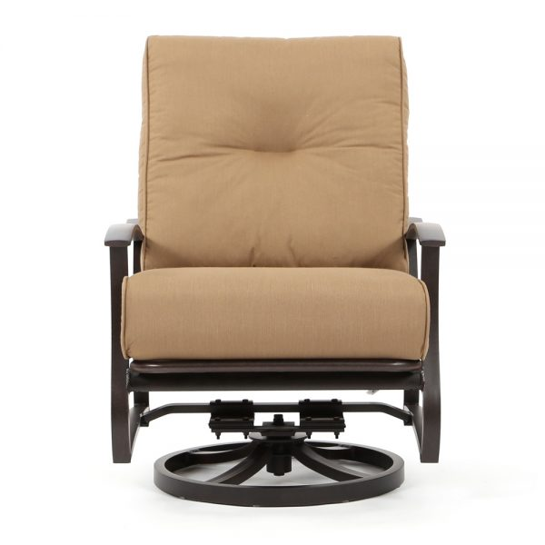 Mallin Albany aluminum swivel club chair front view