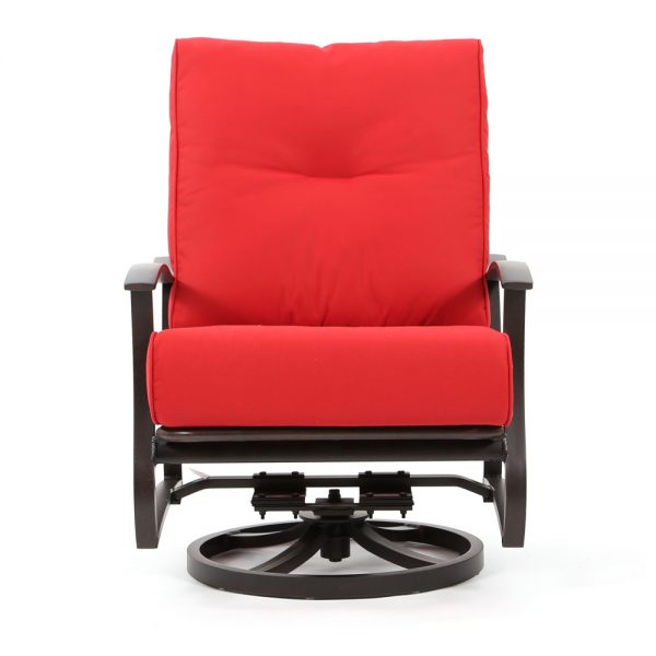 Mallin Albany patio swivel club chair front view