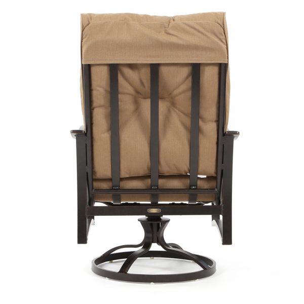 Albany outdoor swivel dining chair back view