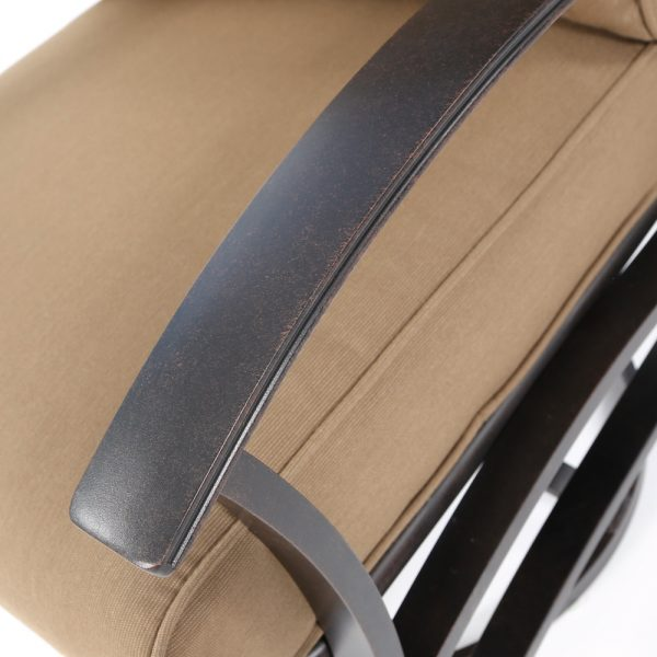 Mallin aluminum Albany frame with a Autumn Rust powder coat finish