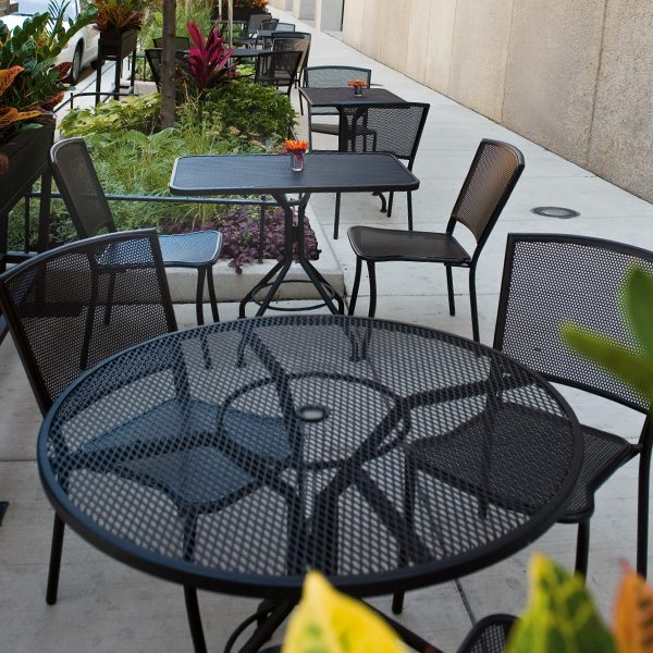 Woodard Albion wrought iron commercial grade furniture
