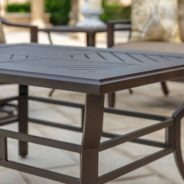 Allegro outdoor coffee table side profile