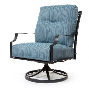 Altura swivel rocker club chair with Tovo Lagoon cushions