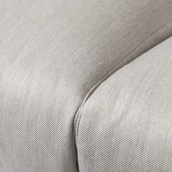 Altura outdoor loveseat with Sunbrella Flagship Silver fabric