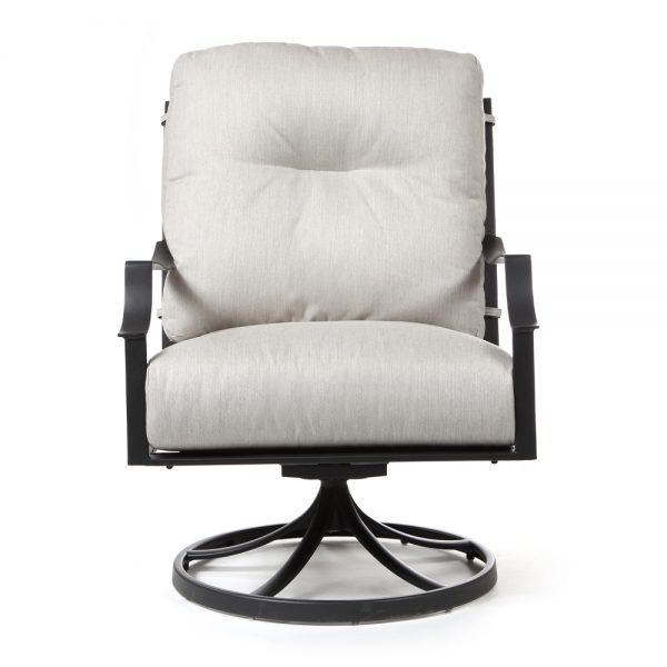 Altura outdoor swivel lounge chair front view