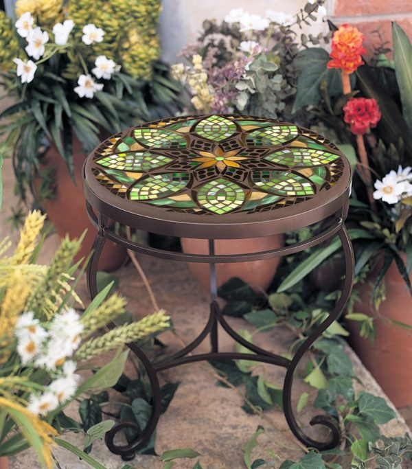 KNF - Neille Olson side table base with a Mosaic top