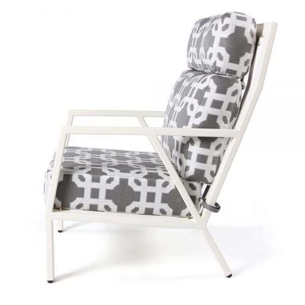 Aris aluminum lounge chair side view