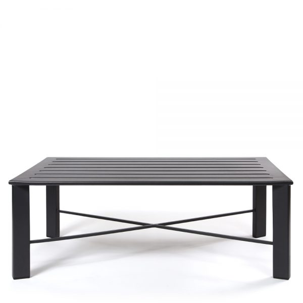 OW Lee Modern aluminum coffee table front view