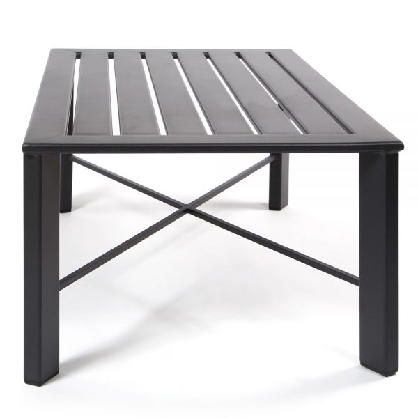 Modern coffee table side view
