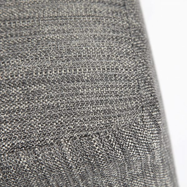 Aris ottoman with Sunbrella Sahara Carbon fabric