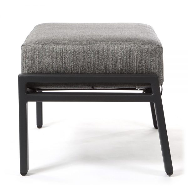Aris outdoor ottoman side view