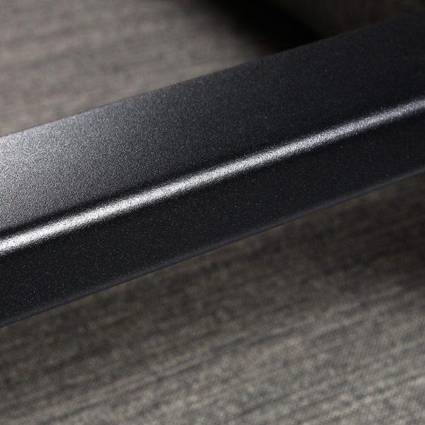 OW Lee Aris aluminum sofa with a Graphite finish