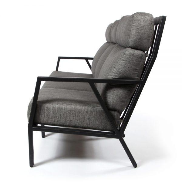 Aris aluminum sofa side view
