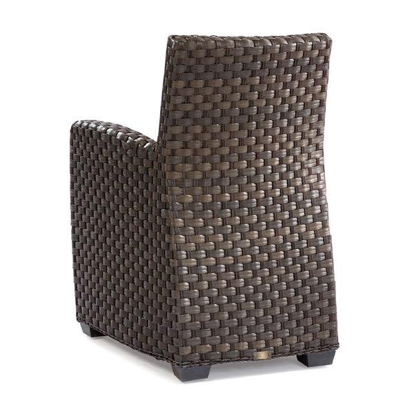 Leeward wicker dining arm chair back view