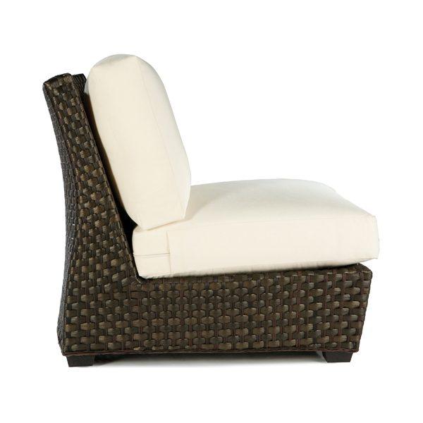 Leeward wicker armless lounge chair side view
