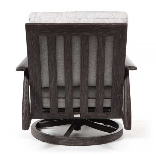 Augusta swivel patio chair back view