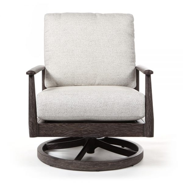 Augusta swivel glider lounge chair front view