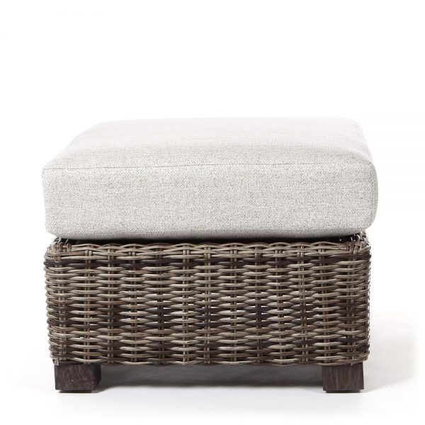 Avallon wicker ottoman front view
