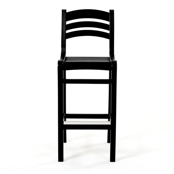 Seaside Casual Charleston black bar chair front view