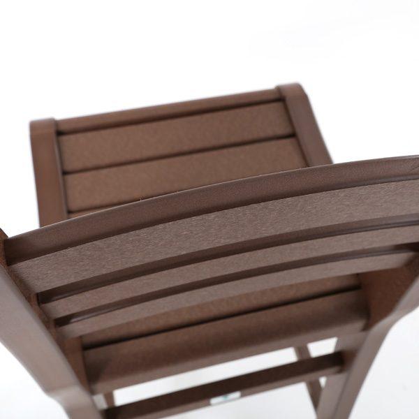 Seaside Casual Charleston bar chair chestnut frame detail