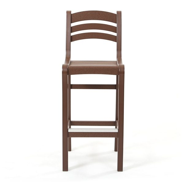 Seaside Casual Charleston bar chair front view