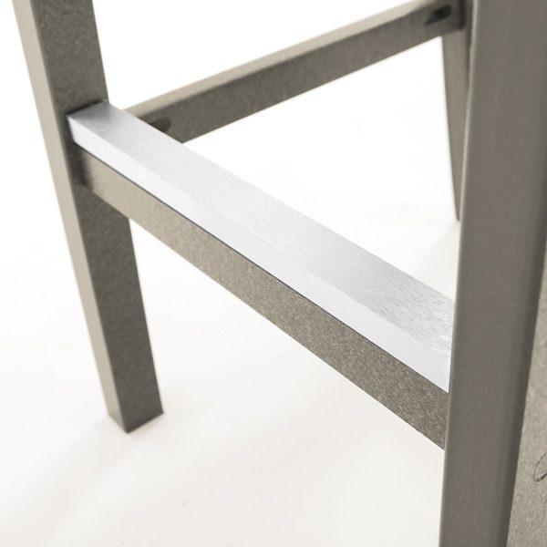 Seaside Casual Charleston bar chair natural frame detail