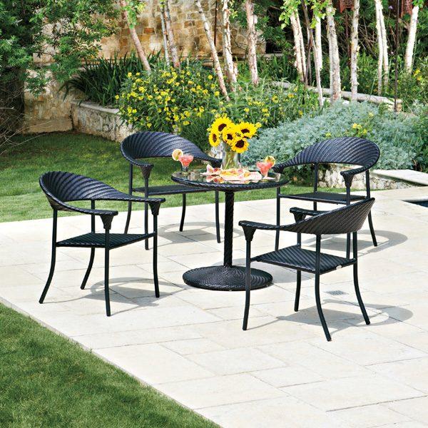 Woodard Barlow wicker dining furniture
