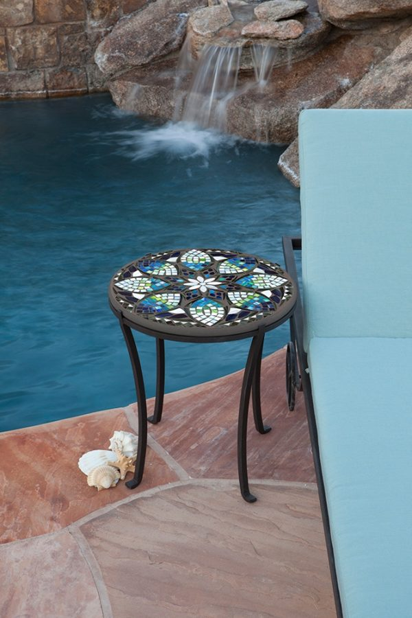 Neille Olson mosaic Belcarra outdoor table