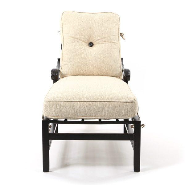 Castelle Bellagio aluminum chaise lounge front view
