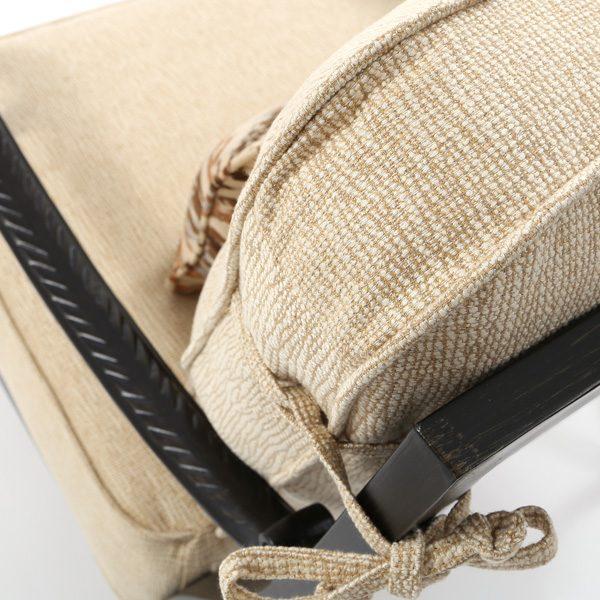 Castelle Bellagio Creswell Barley Sunbrella fabric detail