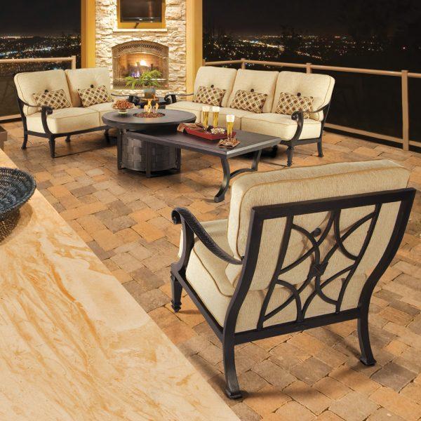Pride Bellagio aluminum deep seating furniture