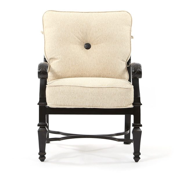 Castelle Bellagio patio dining chair front view
