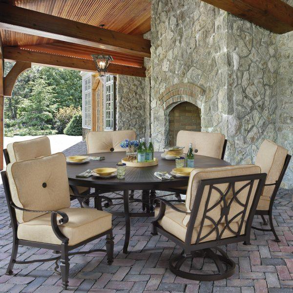Pride Bellagio aluminum dining furniture