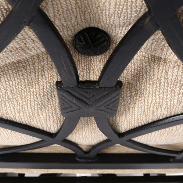 Castelle Bellagio aluminum frame with Dark Rum Gold finish detail