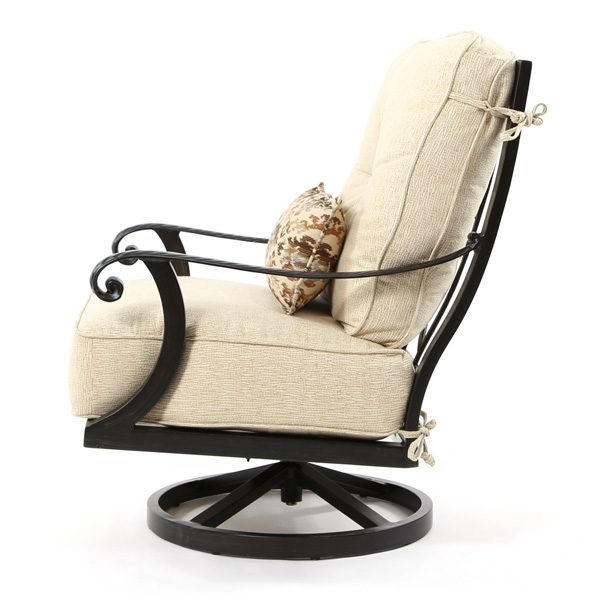 Pride Bellagio outdoor swivel club chair side view