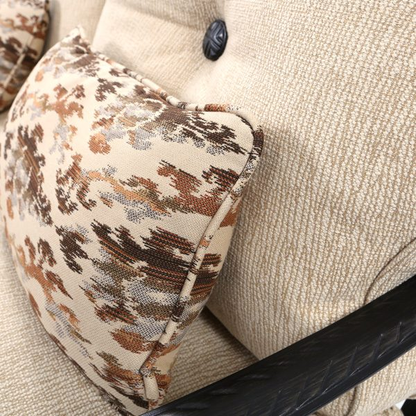 Pride Bellagio Creswell Barley and Zahara Teak Sunbrella fabrics