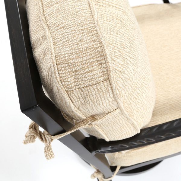Pride Castelle Bellagio Creswell Barley Sunbrella fabric detail