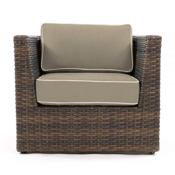 Bellanova outdoor wicker club chair front view