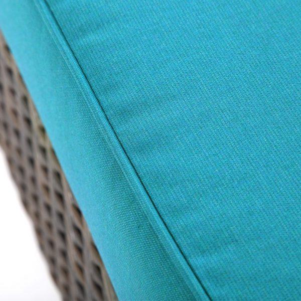 Sunbrella Spectrum Peacock fabric detail