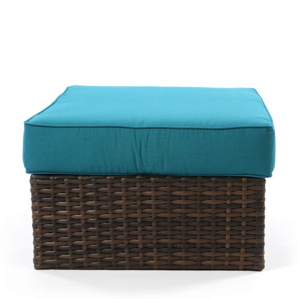 Wicker ottoman coffee table from North Cape