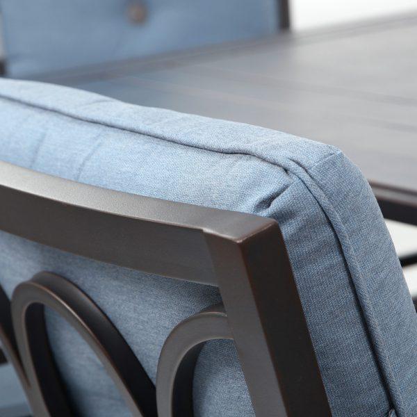 Bellevue Sunbrella Spectrum Denim cushion detail